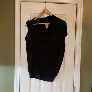 Sleeveless asymmetrical cowlneck Lanvin sweater